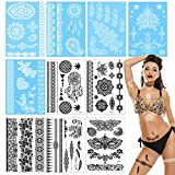 Temporäre Tattoos, Wasserdichte Tattoo-Aufkleber Fake Art Stickers Body Transfers Lace Tattoo...