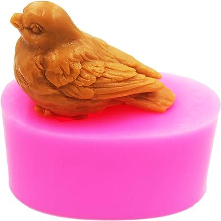 Tit Birds Silicone Mold DIY Soap Candy Fondant Sugar Paste Chocolate Cake Decor