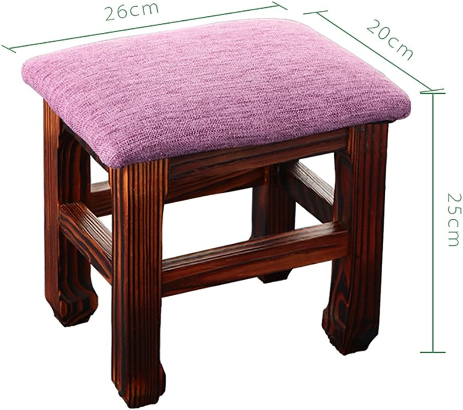 Solid Wood Stool Household shoes Bench Fashion Adult Stool Small Bench shoes Bench 26  20  25cm (color   C)