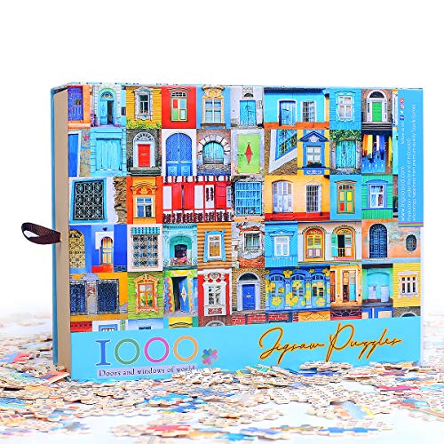 Ingooood- Jigsaw Puzzle 1000 Pieces for Adult - Collector Series - Doors and Windows of World IG-0454 Entertainment Wooden Puzzles Toys