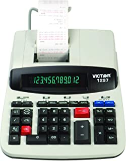 Victor 1297 12-Digit Commercial Printing Calculator, Adding Machine Calculator with Tape, Great for Business, Home, and Office Use.