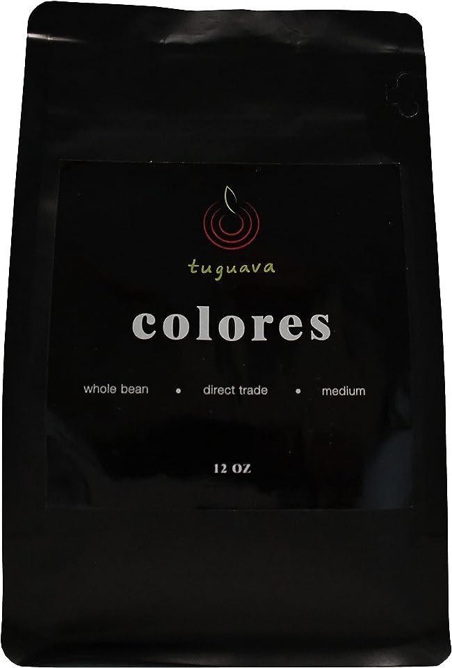 tuguava - Colores Guatemalan Coffee, Medium Roast, Whole Bean, 12 oz Bag