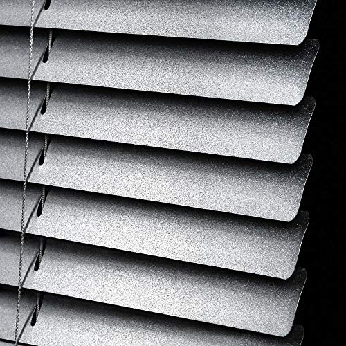 Persianas sin Perforaciones Las persianas de Aluminio se Pueden Utilizar en hogares, oficinas, sombreado, con función Impermeable y de elevación-Plata Metalizada_130 * 230
