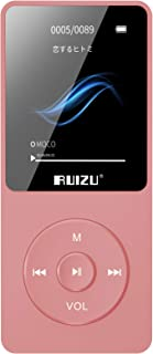 Mp3 Player, RUIZU X02 16GB Ultra Slim Music Player with FM Radio, Voice Recorder, Video Play, Text Reading, 80 Hours Playb...