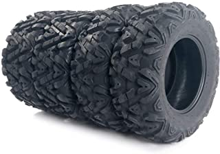 Set of 4 All Terrain Tubeless ATV UTV Tires 25x8-12 Front & 25x10-12 Rear 6PR, Deep Mud, Powerful, Durable, of Performance