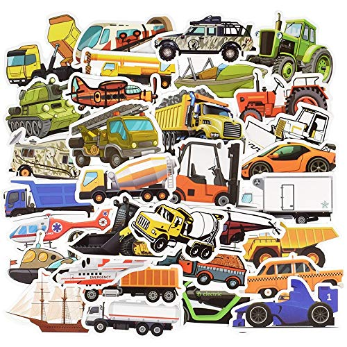 Engineering Voertuig Auto's Sticker Leuke Bus Truck Ambulance Anime Stickers Op Diy Koffer Laptop Skateboard Voor Kinderen 50 stks