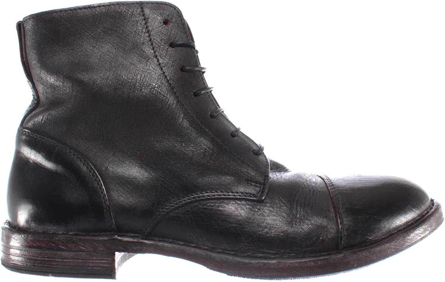 368c600dd MOMA Men's shoes Ankle Ankle Ankle Boots 66702-R2 Pelle Leather Black  Vintage Made New bbddc0