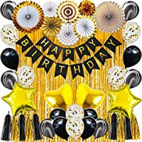 42-Piece Happy Birthday Banner Latex Balloons Perfect Party Supplies Birthday themed decorations
