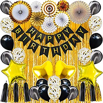 42-Piece Happy Birthday Banner Latex Balloons Perfect Party Supplies