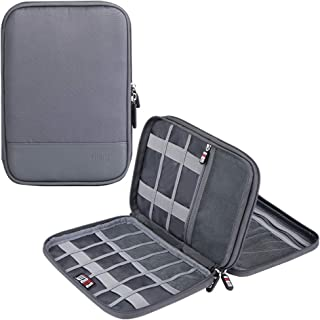 Travel Accessories Cable Organizer - Double Layers Electronic Digital Accessories Bag for SD Card Case, USB Flash Drive,Ch...