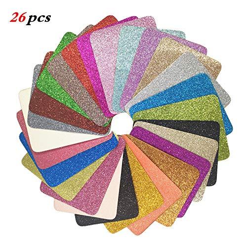 Aliyer 26 Stück Bügelflicken Patch Kleidung Sofa Tuch Patches zum Aufbügeln Aufbügelflicken Patch Zum Bügeln Und Nähen.