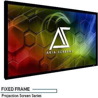 Akia Screens 150 INCH Projector Screen 16:9 Fixed Frame Projector Screen 8K / 4K Ultra HD 3D Ready Movie Projector Screen HD Projector Screen Fixed Frame Series AK-FF150WH2