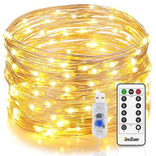 Fairy Lights USB Plug in 20m/66ft 200 LEDs String Lights with Remote Timer...
