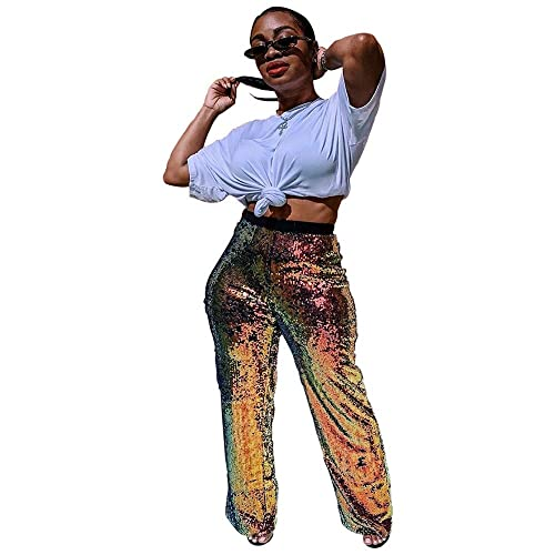 f3a1bfc362601d HUAMIN Womens Fashion Sequin Pants Embroidery Nightclub Party Sparkle Pants  Wind Straight Trousers with Lining