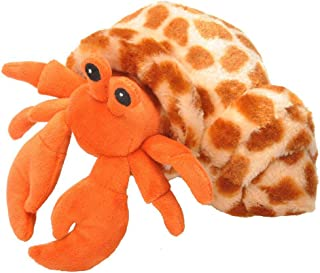Wild Republic Hermit Crab Plush, Stuffed Animal, Plush Toy, Gifts for Kids, Hug'Ems 7 inches