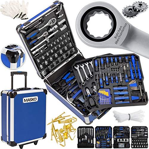 Masko® 969 tlg Werkzeugkoffer Werkzeugkasten Werkzeugkiste Werkzeug Trolley Profi 969 Teile Qualitätswerkzeug Blau