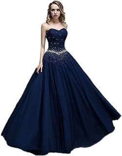 434c750237e APXPF Femme Longue Tulle Princesse Perles Robe de Bal Robe de Bal  Quinceanera