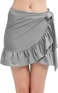 MOCOLY Womens Ruffle Sarongs Adjust Beach Wrap Swim Skirts Bikini Tankini Swimwear Cover Ups Swimdress