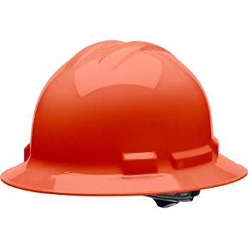 Malta Dynamics 4 pt. Full Brim Style Hard Hat (Orange), OSHA/ANSI Compliant