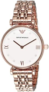 Emporio Armani Women's Two-Hand Rose Gold-Tone Stainless Steel Watch AR11267