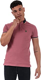 Luke 1977 Mens Tip Off Pique Polo Shirt in Cassis.