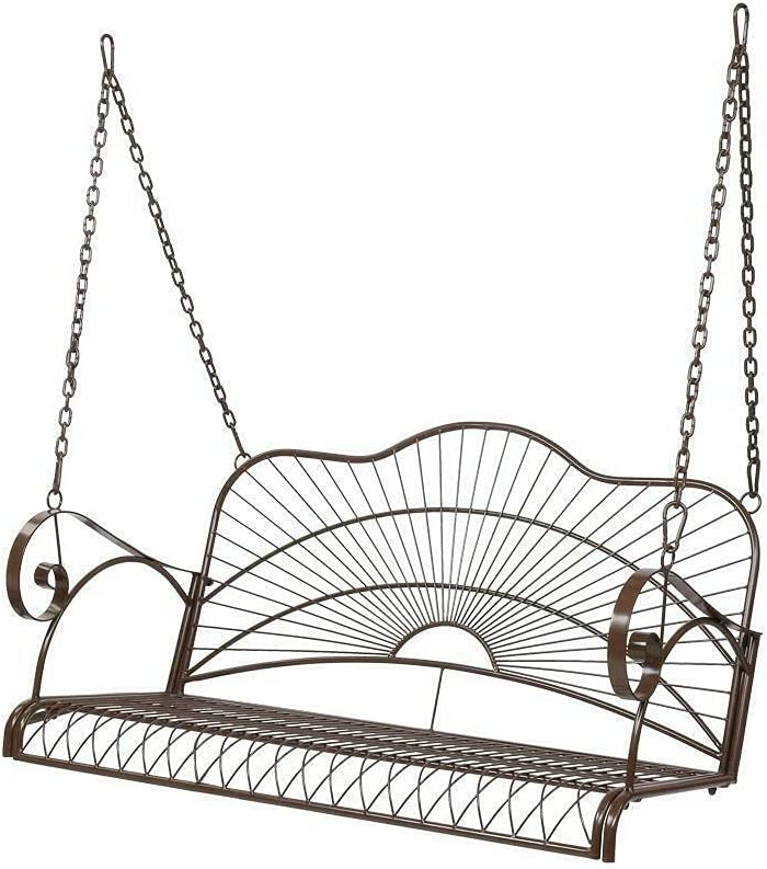 LCSA Porch Swings Outdoor Swing Chair Max 90% OFF 2-Person Max 57% OFF Bench Patio