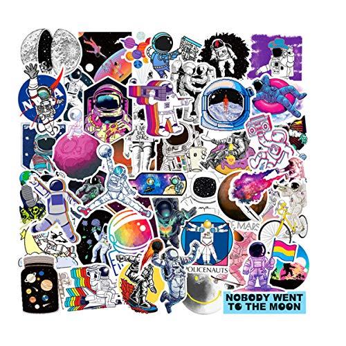 CHNLML Cool Aufkleber, 50 Stück, Musikfolie, Vinyl, Skateboard, Gitarre, Reise-Aufkleber, Tür, Laptop, Gepäck, Auto, Fahrrad (nicht zufällig) NASA Aufkleber