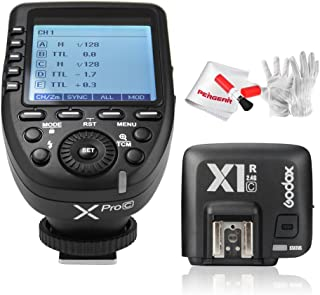 【Godox正規代理店 技適マーク付き】GODOX Xpro-C送信機 TTL2.4Gワイヤレスフラッシュトリガー 高速同期 1 / 8000s XシステムとGodox TTL X1R-C 受信機 セット Canon一眼レフカメラ対応