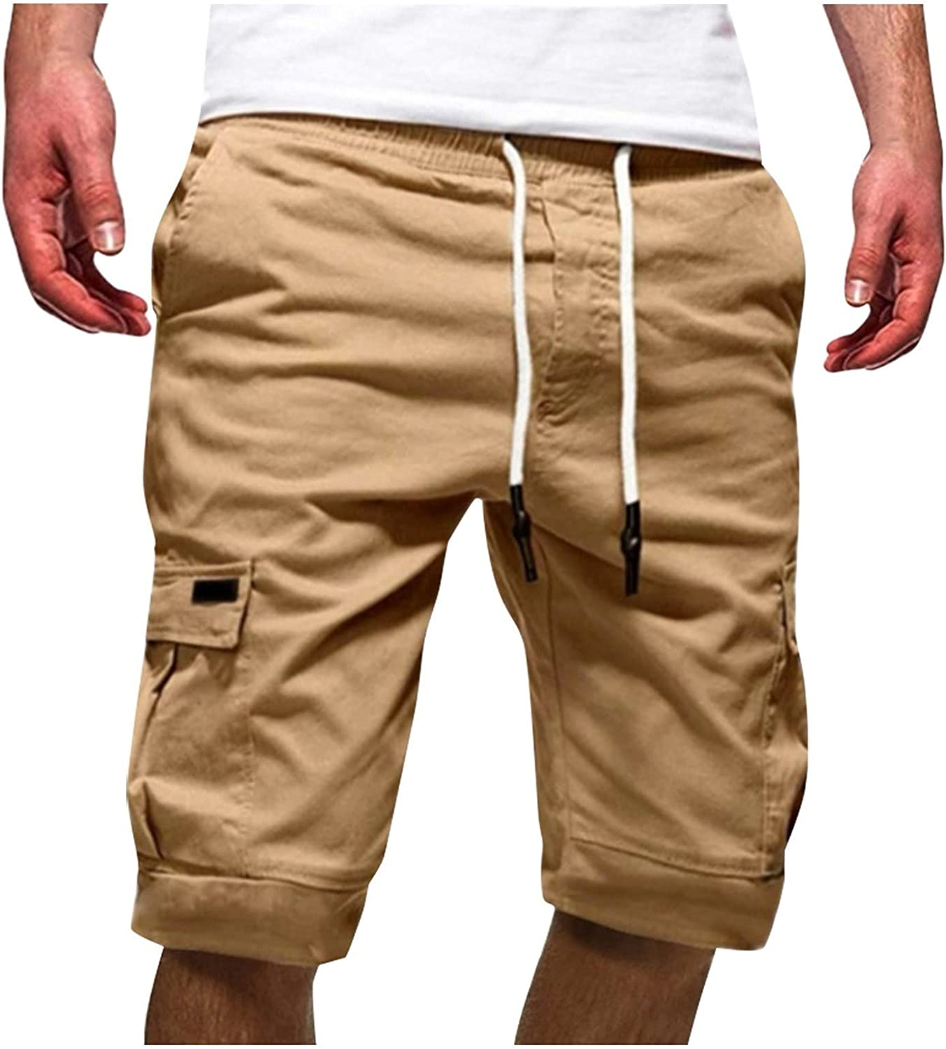 DXYDSC Men's Summer Casual Classic Relaxed Fit Flex Tooling Sports Shorts Five Point Pant