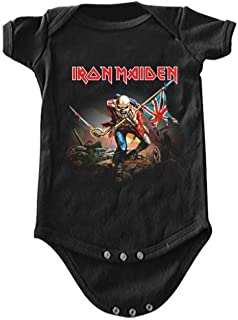ill Rock Merch Iron Maiden The Trooper Baby Romper T-Shirt