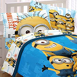 Despicable Me Full Bedding Set Minions Testing 123 Comforter and Sheets