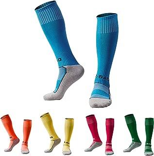 Kids Soccer Socks 5 Pack / 1 Pack Knee High Tube Socks Towel Bottom Pressure Football Socks (4-13 Years Little Kid/Big Kid)