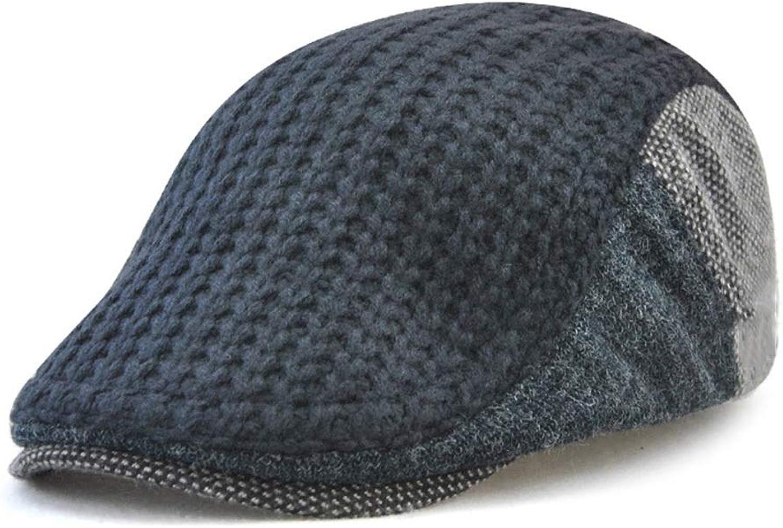 Men's Beret Cap Autumn Winter Knitted Hat Warm Hat.