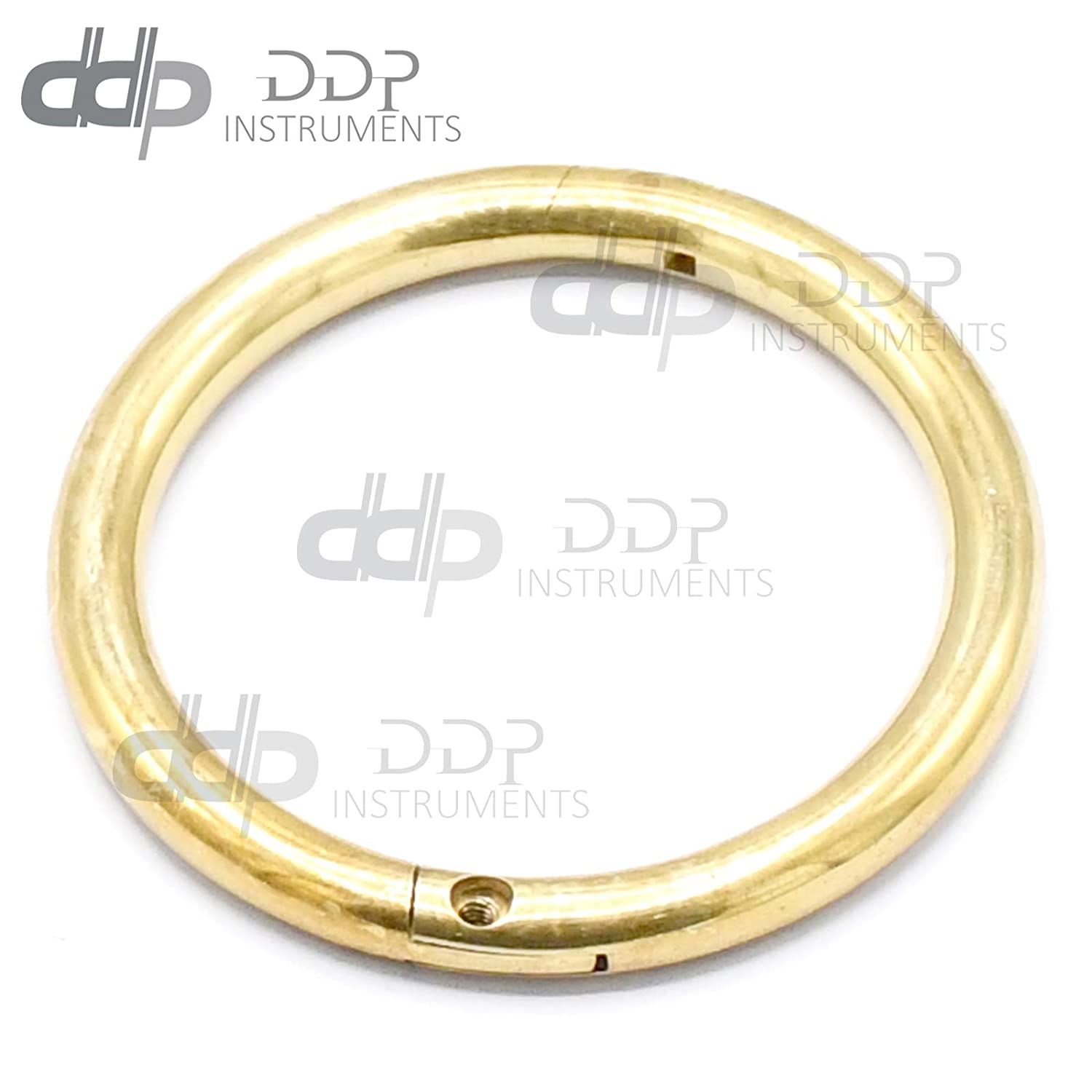 Sacramento Mall DDP Solid Heavy Brass Bull Nose Ring Fa - Inch 1 Used service 4