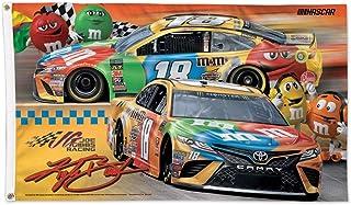 Win Craft Kyle Busch Yellow M&M Horizontal 3x5 NASCAR Flag