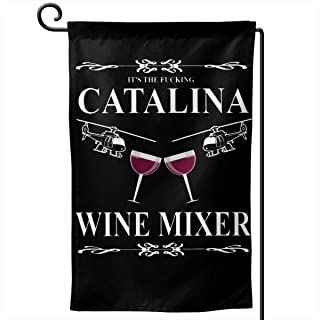 SISA Catalina Wine Mixer Home Flag Outdoor Garden Flags Decor 12.5x18 Inch Pattern Double-Sided Printing Ensign