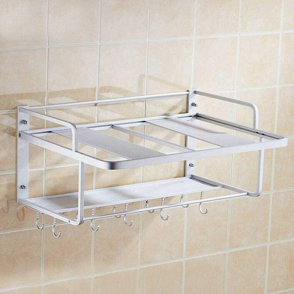Low price outlet Microwave Rack 2 Tier Oven Aluminum Wall Mounted