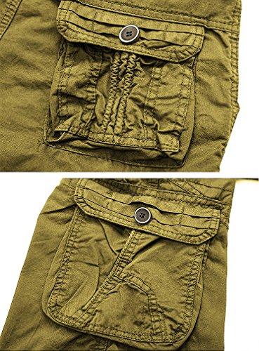 Nutovi Men's Cargo Shorts Relaxed Fit with Multi Pockets (30, Khaki K)