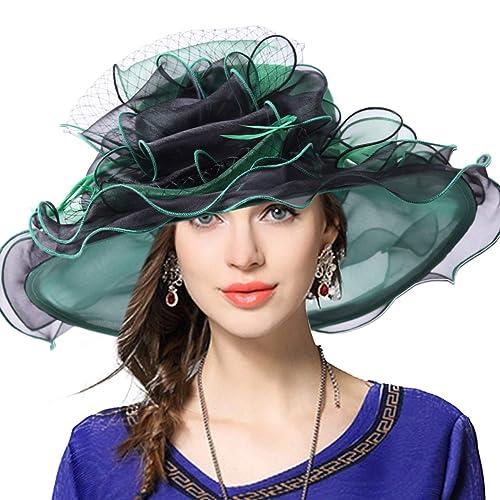 VECRY Women s Church Derby Dress Fascinator Bridal Cap British Tea Party  Wedding Hat c3e34b31b40