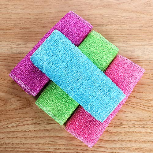 1Pc Bamboo Fiber Anti-Grease Dish Cloth Washing Towel Kitchen Scouring Pad Cleaning Wiping Rags Accessories For Home Supplies