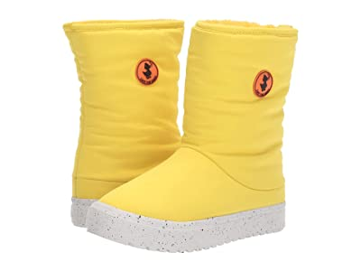 Save the Duck Kids Faux Fur Lined Snow Boots (Little Kids/Big Kids) (Chrome Yellow) Kids Shoes