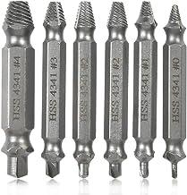 YANSHON Beschadigde schroef Extractor Set, 6 stks Gestripte Schroef Remover met Case, Verwijder gemakkelijk Gestripte of B...