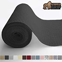 Gorilla Grip Original Drawer and Shelf Liner, Non Adhesive Roll, 12 Inch x 20 FT, Durable and Strong, for Drawers, Shelves, Cabinets, Storage, Kitchen and Desks, Black