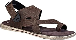 Woodland Men's Brown Leather Sandal 9 UK/India (43 EU)-(OGD 3011118)
