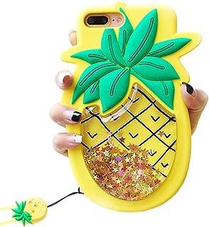 iPhone 6 Plus Liquid Case, Cute 3D Soft Feeling Silicone Cover Case for Apple iPhone 6 Plus / 6s Plus Unique Creative Phone Case for Kids Teens Girls Boys (Pineapple 1)