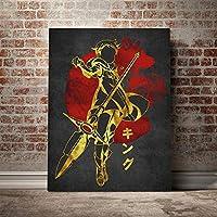 キングセブンデッドリーシンズポスターキャンバスウォールアートデコレーションプリントリビングキッドチルドレンルームホームベッドルームデコレーションペインティング/ 60x80cm(フレームなし)