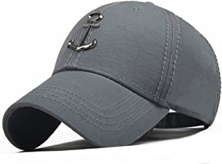new concept 38374 dec9e CACUSS Men s Sailing Style Cotton Structured Baseball Cap Adjustable Buckle  Closure Sports Golf Hat