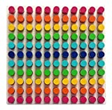 Hess Holzspielzeug 14866 - Farbensteckspiel mit 121 Steckern aus Holz inklusive Steckvorlagen, ca. 21 x 21 cm