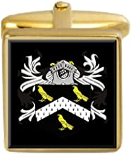 Select Gifts Jarvis England Family Crest Surname Coat Of Arms Gold Cufflinks Engraved Box