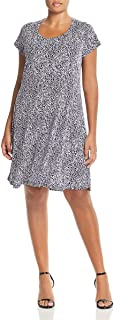 Michael Michael Kors Womens Plus Printed Scoop Neck Casual Dress